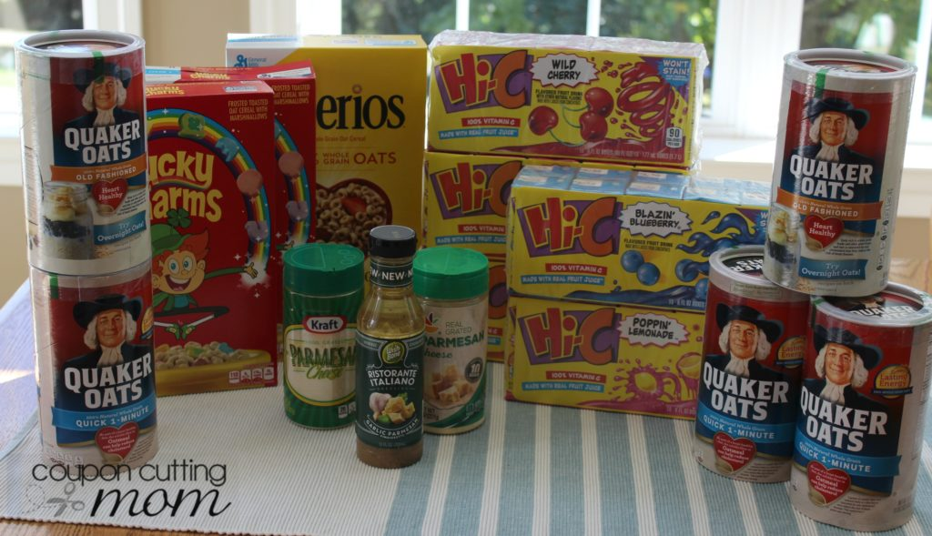 My Giant Food Shopping Trip: $2 for $42 Worth of Quaker Oats, GM Cereal and More