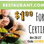 *HOT* $10 Restaurant.com Certificate Only $1.99
