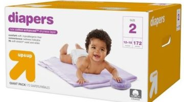 Up & Up Giant Pack Diapers ONLY $14.99 (Reg. Price $28.99)