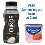FREE Dannon Yogurt Items at Giant (Starting 11/4)