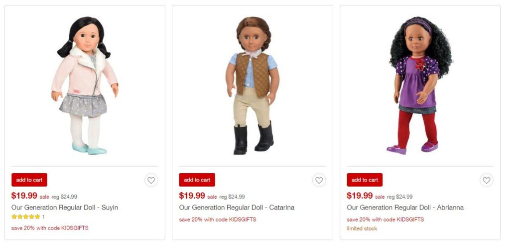 """18"""" Our Generation Dolls ONLY $15.99 (Reg. Price $24.99)"""