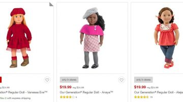 18″ Our Generation Dolls ONLY $14.99 (Reg. Price $24.99)
