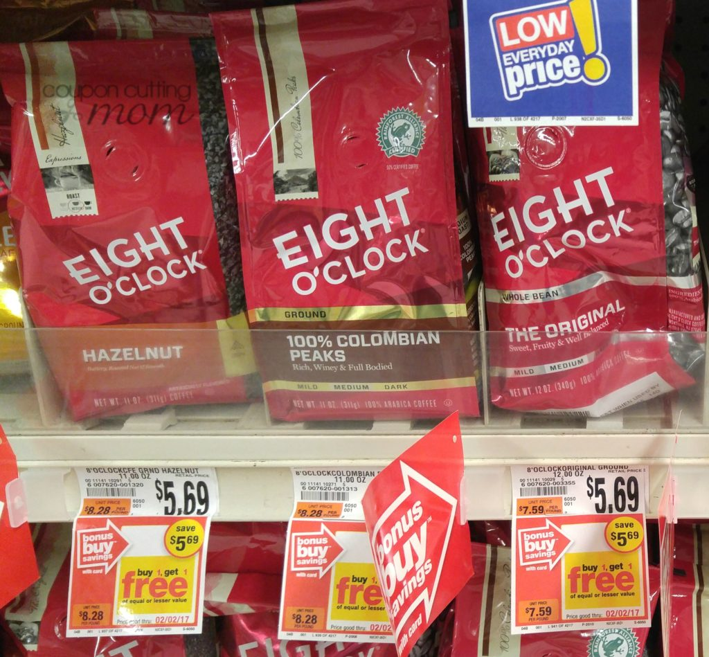 Giant: Eight O'Clock Coffee ONLY $1.35 Each (Reg. Price $5.69)