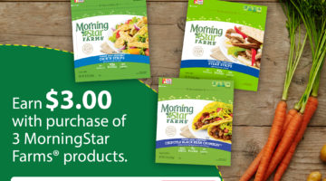 Earn $3 With This MorningStar Farms® Ibotta Offer