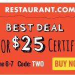*HOT* $10 Restaurant.com Gift Certificate Only $1.50
