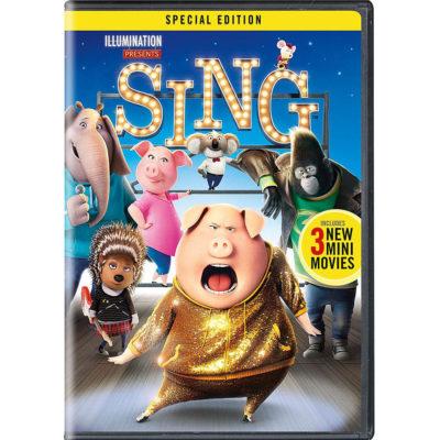 Sing DVD ONLY $7.99 (Reg. Price $20.99)