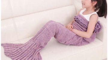Kids Knitted Mermaid Blanket 43% Off Regular Price
