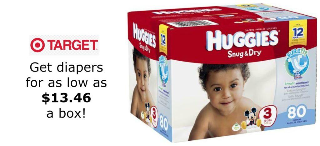 Target: Diaper Super Packs as Low as $13.46 Per Box (Reg. Price $24.29)