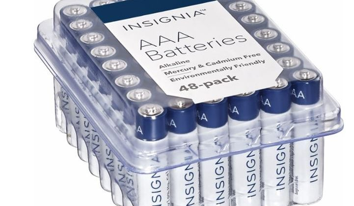 Insignia Batteries AA or AAA (48-Pack) $6.99 (Reg. Price $14.99)