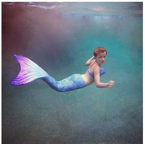 Every Girl's Dream Comes True With Mermaid Tails and Flippers