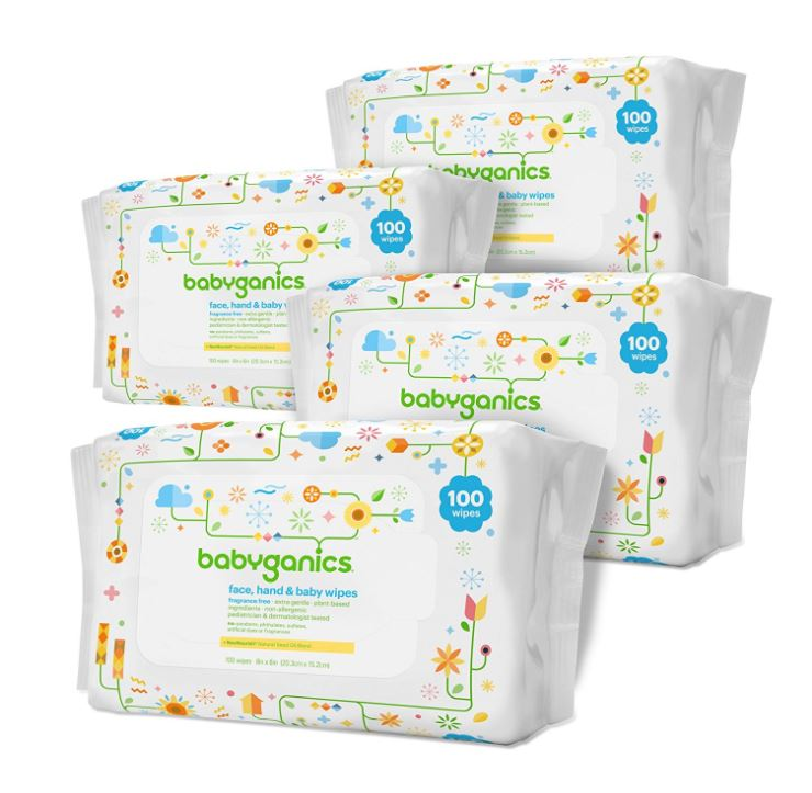 HOT Deal on Babyganics Baby Wipes ONLY $12.96 (Reg. Price $19.95) + FREE Shipping