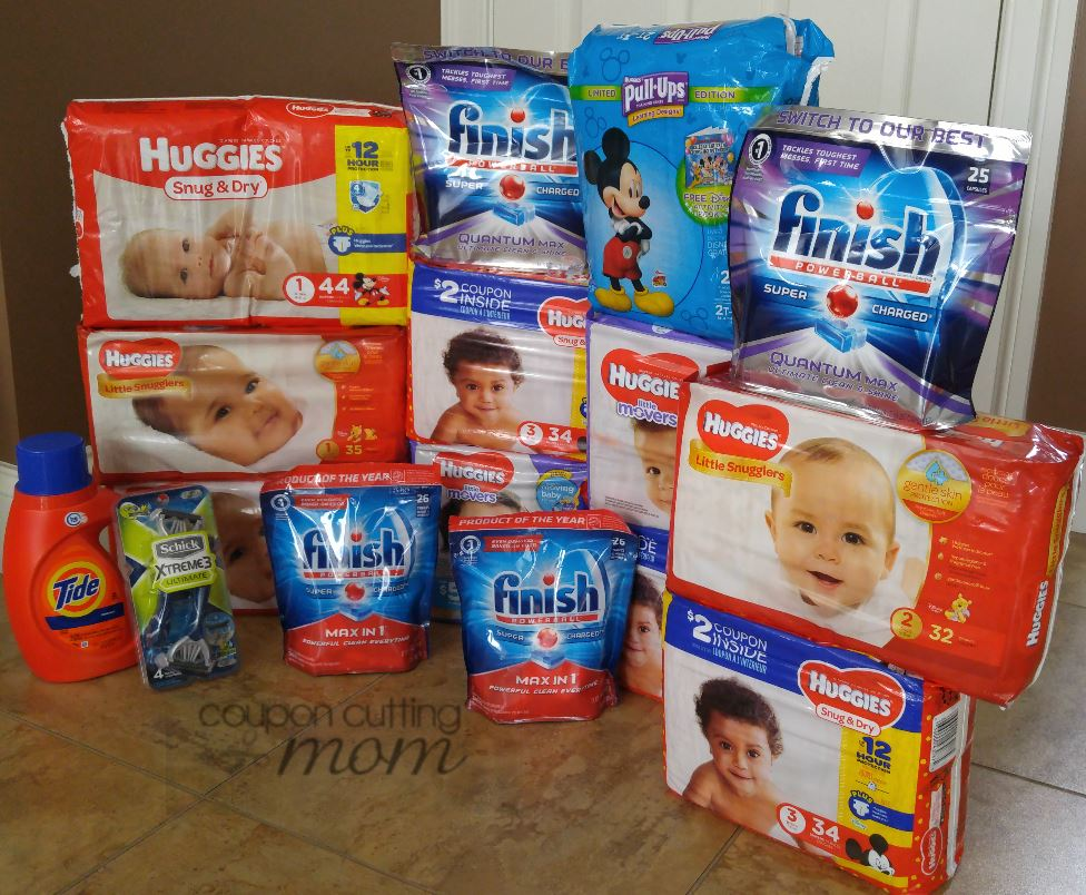 Rite Aid Shopping Trip - $186 Worth of Huggies, Finish and More ONLY $17.90