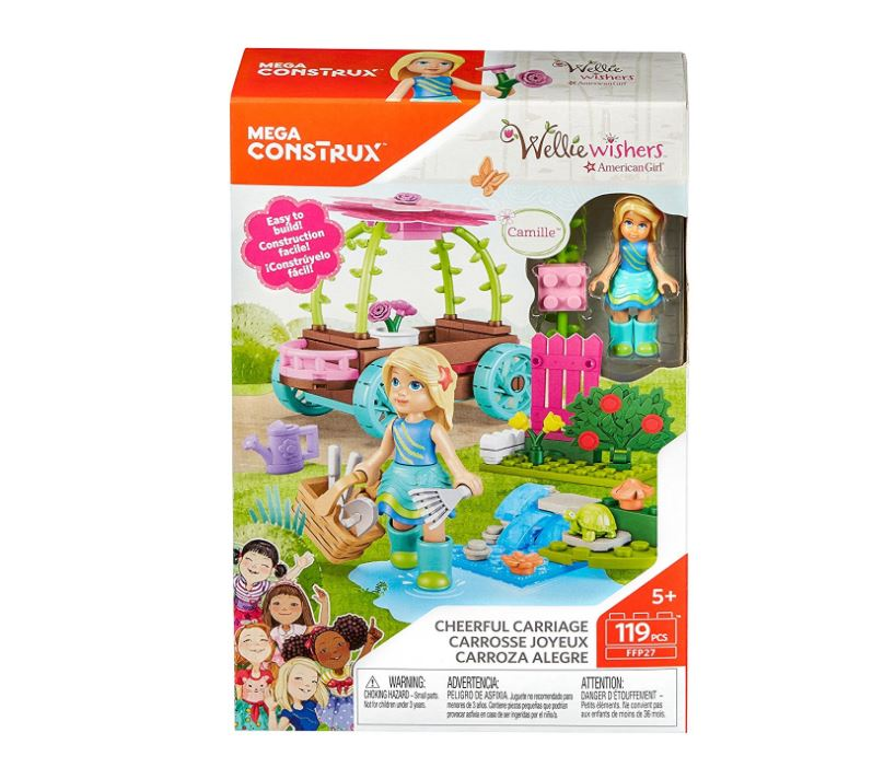 Mega Construx WellieWishers Cheerful Carriage Camille Buildable Playset - 41% Off Regular Price