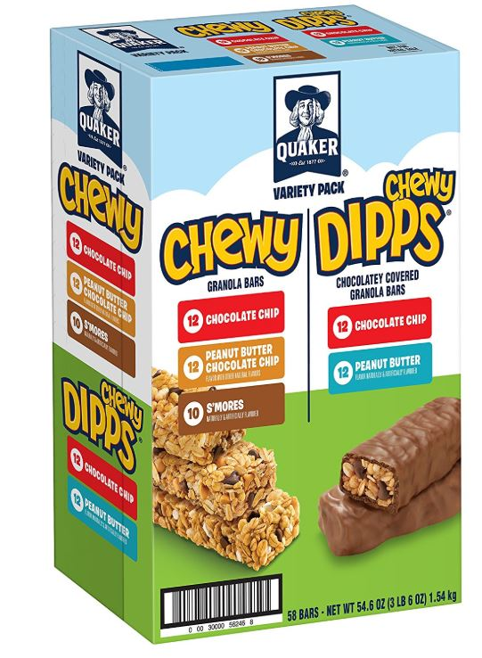 Quaker Chewy Granola Bars and Dipps Variety Pack ONLY $7.73 (Reg. Price $11.04)
