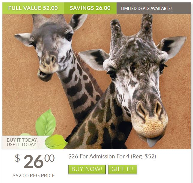 Lehigh Valley Zoo Admission Tickets 50% Off Regular Price