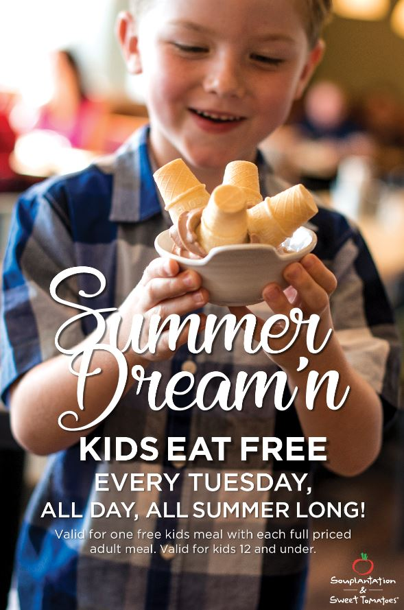 Kids Eat FREE at Sweet Tomatoes This Summer