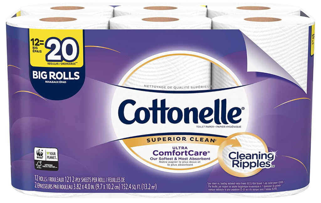 Cottonelle Ultra CleanCare Bath Tissue Only $5.70 (Regular Price $9.99) + FREE Shipping