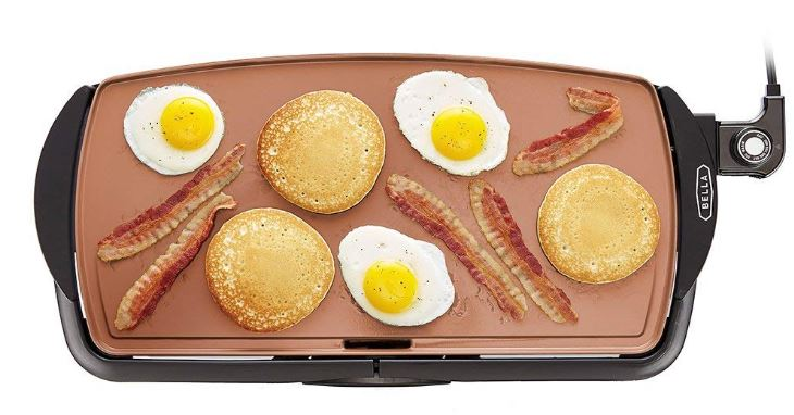 BELLA Copper Titanium Coated Non-Stick Griddle 50% Off Regular Price