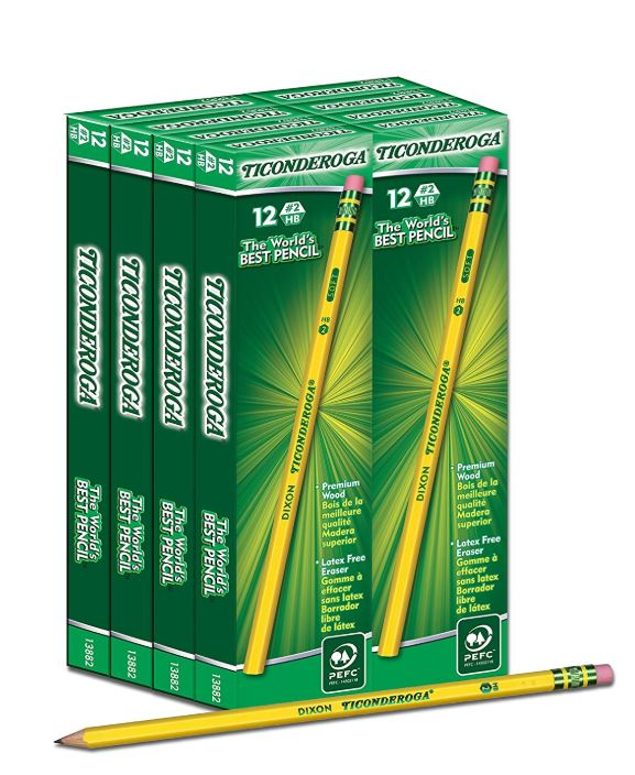 Dixon Ticonderoga Wood-Cased #2 HB Pencils - 69% Off Regular Price