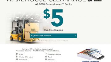 2018 Entertainment Books Only $5.00 (Reg. $35.00) + FREE Shipping