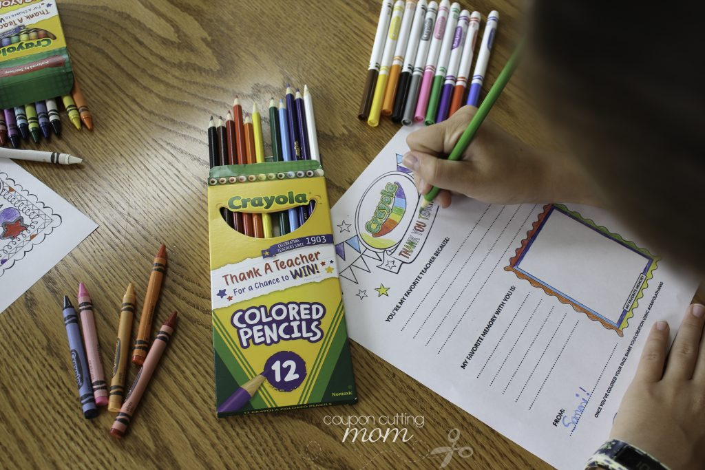 Say Thanks With This Crayola Thank A Teacher Contest