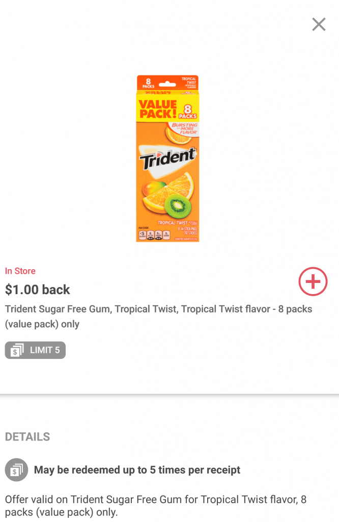 Ibotta Offer on Trident Gum at Walmart + Gift Card Giveaway