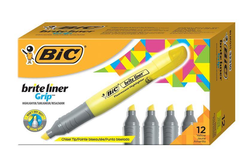 BIC Brite Liner Grip Highlighter 71% Off Regular Price