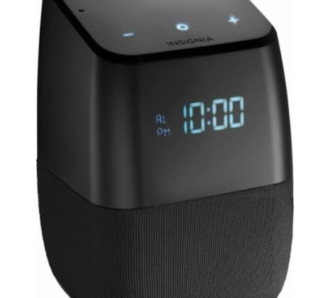InsigniaVoice Smart Bluetooth Speaker and Alarm Clock 75% Off Regular Price
