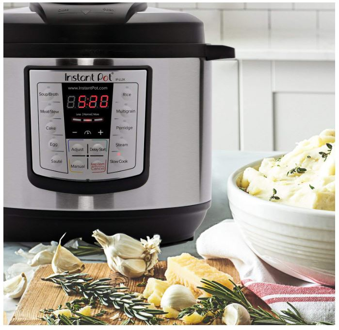 Instant Pot LUX80 8-Qt 6-in-1 Programmable Pressure Cooker ONLY $59.00 (Reg. Price $109.95)