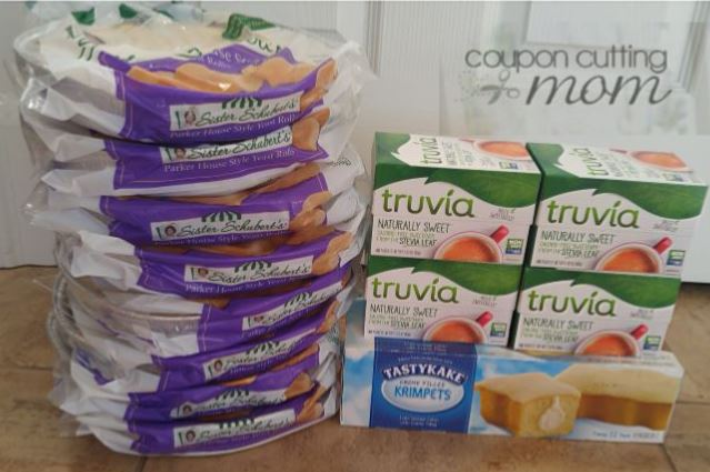 Giant Shopping Trip: $47.47 Worth of Sister Schubert's Truvia and More ONLY $0.84