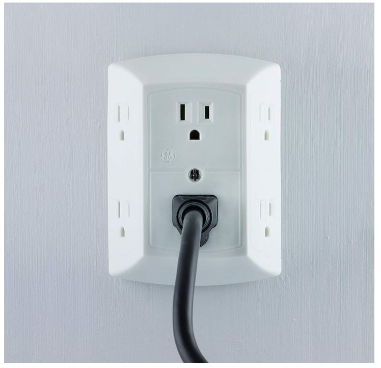 GE 6 Outlet Wall Plug Adapter Power Strip - 49% Off Regular Price