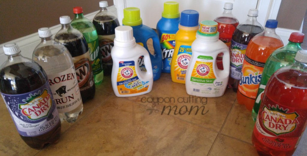Giant Shopping Trip: $39 Worth of Detergent and Soda ONLY $5.00