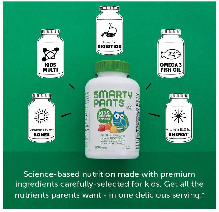 SmartyPants Kids Complete and Fiber Gummy Vitamins Only$15.14 (Regular Price $21.95)