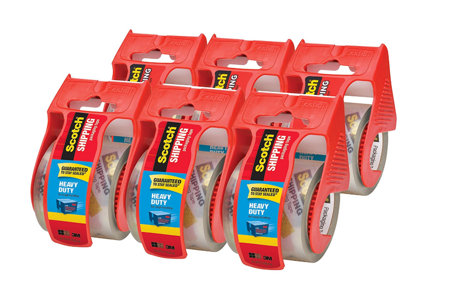 Scotch Heavy Duty Shipping Packaging Tape 6 Rolls with Dispenser Only $10.18 (Regular Price $22.99)
