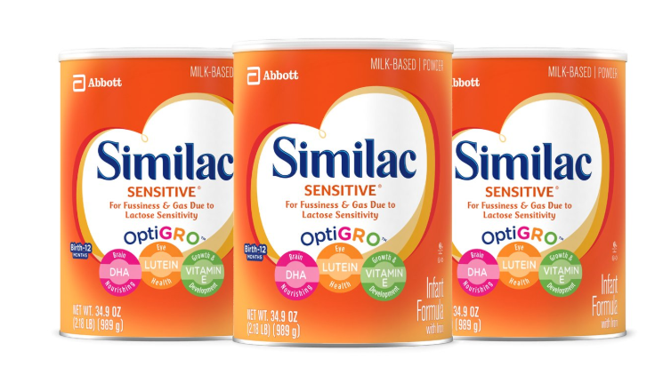 Similac Sensitive Infant Formula with Iron ONLY $15.43 Per Can - Regular Price $30.87