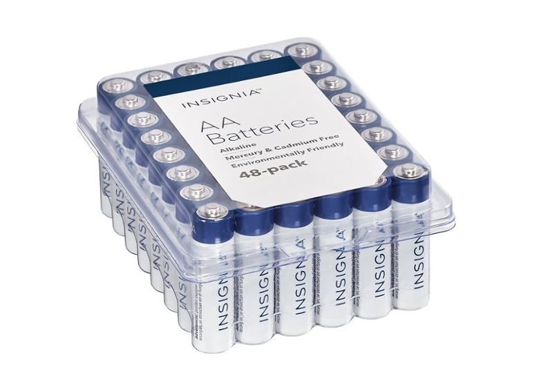 Insignia Batteries AA (48-Pack) $8.99 - Regular Price $17.99