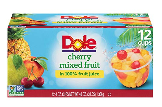 Dole Cherry Mixed Fruit Bowls (12 Cups) Only $5.84 - Regular Price $9.58