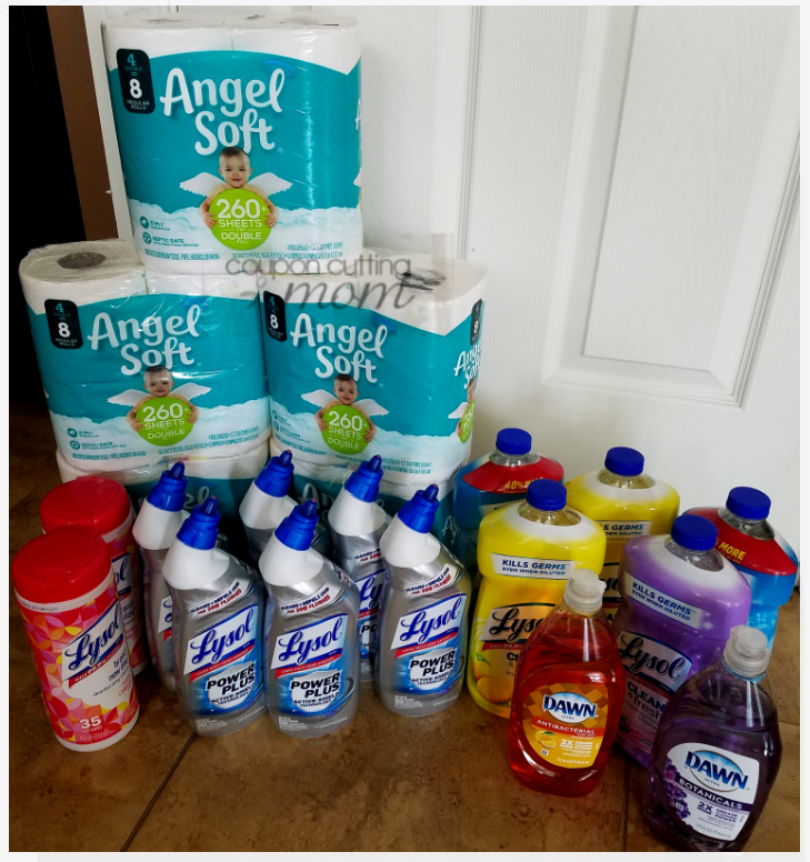 Giant Shopping Trip: $57 Worth of Lysol and More FREE + $5 Moneymaker