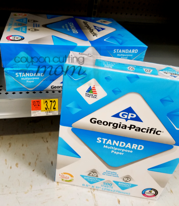 Georgia-Pacific Standard Multipurpose Paper ONLY $0.75 (Reg. Price $3.72) No Coupons Needed