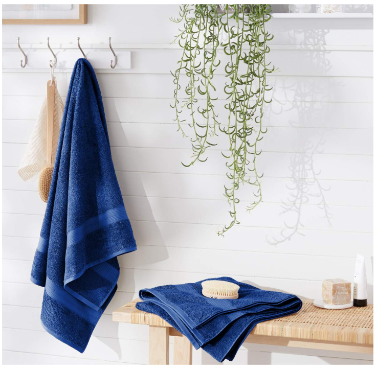 AmazonBasics Fade-Resistant Cotton Bath Sheet 2-Pack Only $6.99 (Regular Price $22.99)