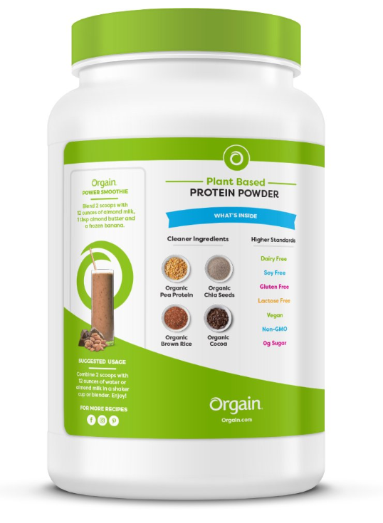 Orgain Organic Plant Based Protein Powder Only $12.59 - Regular Price $20.98