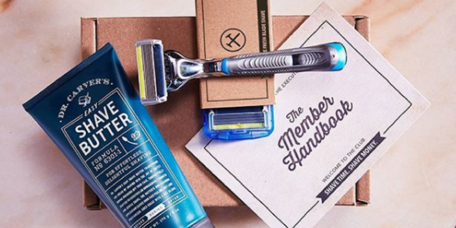 Dollar Shave Club Starter Kit ONLY $5.00 + FREE Shipping (Includes Razor, 4 Cartridges & More)