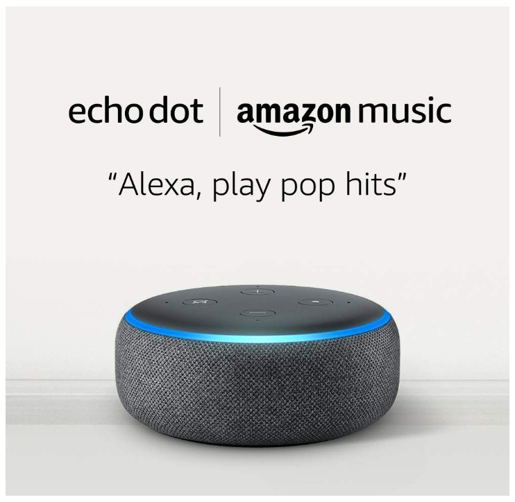 Echo Dot + 1 Month of Amazon Music Unlimited ONLY $8.98 - Regular Price $58.00