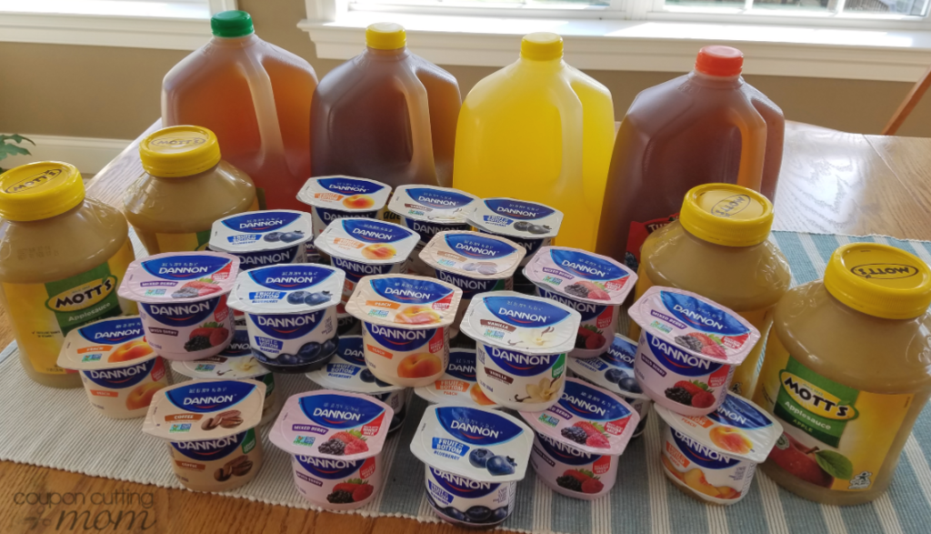 Giant Shopping Trip: $44 Worth of Dannon, Mott's and More Only $15.25
