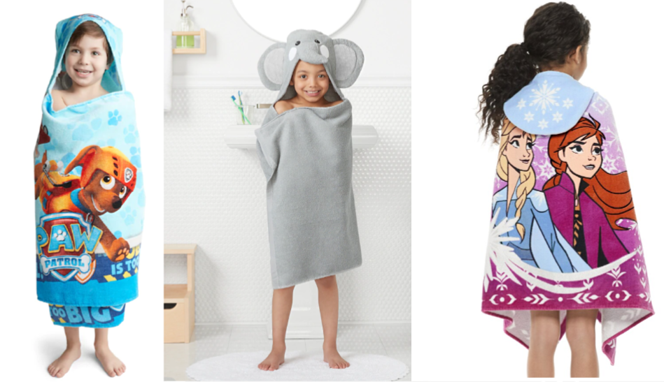 Character Hooded Bath Towels as Low as $2.64 (Regular Price $21.99)