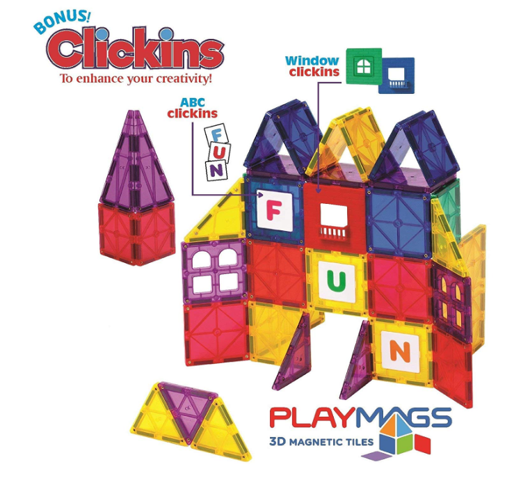 Playmags 3D Magnetic Blocks 100 Piece Set Only $49.99 - Regular Price $109.99