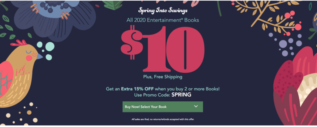2020 Entertainment Books Only $10.00 (Reg. $35.00) + FREE Shipping