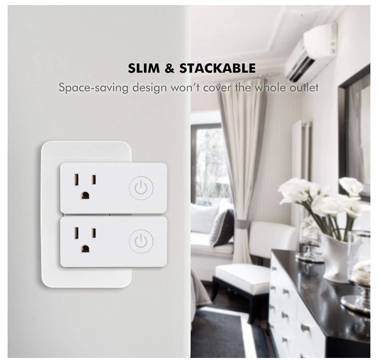 Smart WiFi Outlets Compatible with Alexa and Google (4 Pack) ONLY $14.00 - Regular Price $28.00